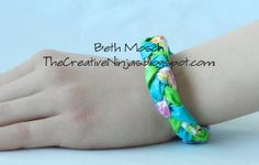 check out this braided bracelet made from Duct Tape!