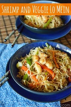 Shrimp and Veggie Lo Mein