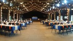 Loved the blue and orange theme to help transition us to fall over this Labor day weekend at Happy Days Lodge
