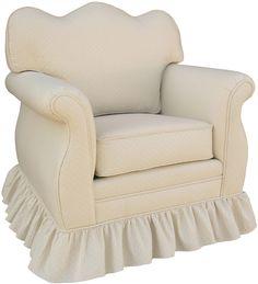 Monaco Vanilla Adult Empire Glider Rocker Chair - Foam or Down