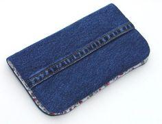 Checkbook holder, denim purse and other denim ideas