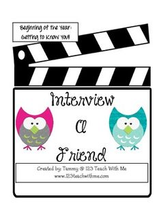 Beginning of the Year: Getting to Know You Interviews