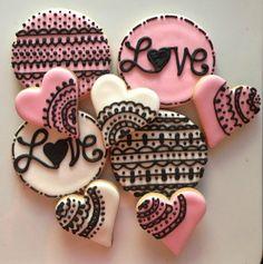 Valentine Love Lace (12cookies)