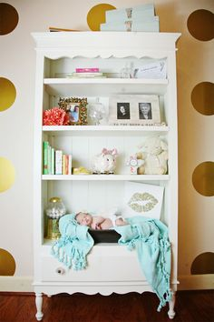 Coral and Gold Nursery Design | Photo by Natalie Gray Photography