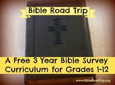 Bible Road Trip ~ FREE 3 Year Curriculum