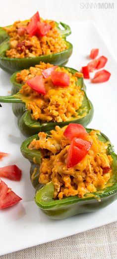 Skinny Taco Stuffed Peppers.