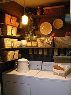 I want my laundry closet to look like this.