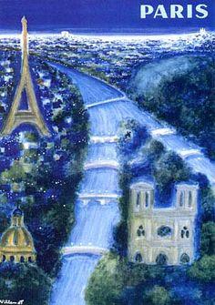 Paris  Poster by Bernard Villemot