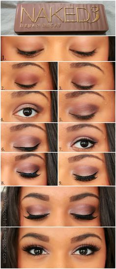 Beauty Bar Daily: Pictorial: UD Naked 3 Smokey Eye   Kay's Couture