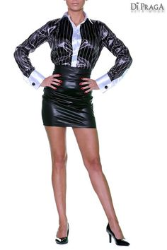 satin blous, wife, sexi blous, black stripe