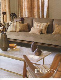 Larsen beige upholsery/sofa Paul Mathiue for Ralph Pucci International