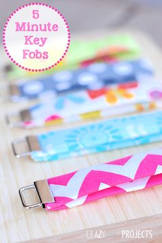 Easy Key Fob Tutorial-Great way to to use fabric scraps!