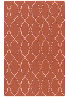 Jill Rosenwald by Surya Fallon Coral Hand Woven Wool Rug. #laylagrayce #rug #surya