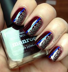 piCture pOlish Monroe with a little lace swatched by Nail Polish Wars!