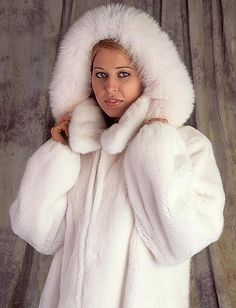 White Mink & Fox Fur Parka