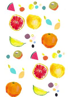 pop fruit pattern. faye bradley.
