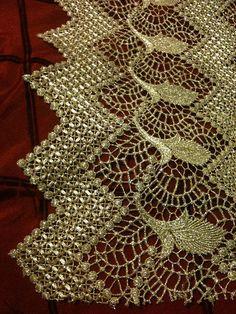 Antique Silver Metallic Victorian Vintage Bullion Lace Fabric. $200.00, via Etsy.