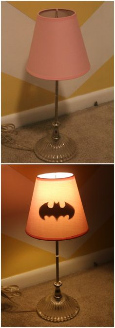 Secret Batgirl Lamp for baby girl's nursery <-- Pinner said for a nursery. Stuff that, I want it for my room