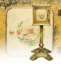 March 30th Auction. From the Guy Zani Jr. Safe Collection: Derby Victorian Boudoir/Brothel Safe. Circa 1873. Derby and Company. With key lock door. Interior has four wood drawers. Weighs approximately 275 pounds. #Derby #Victorian #BoudoirSafe #BrothelSafe #GuyZani #MorphyAuctions