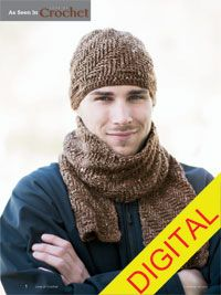 Cambridge Hat and Scarf Digital Crochet Pattern - from the Fall 2014 Issue of Love of Crochet magazine