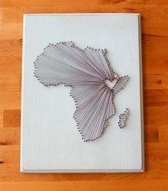 Ethiopia Love String Art. $35.00, via Etsy.