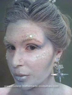 Homemade Ice Queen Costume: I wanted an Ice Queen Costume. The first thing I did was use Google to get my creative side flowing. The White Witch became my inspiration but I used a