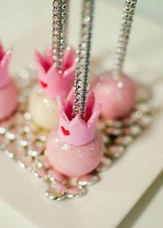 Princess Crown Bling Cake Pops princess crowns, cake pops, pop cake, cakepop, crown bling, bling cake