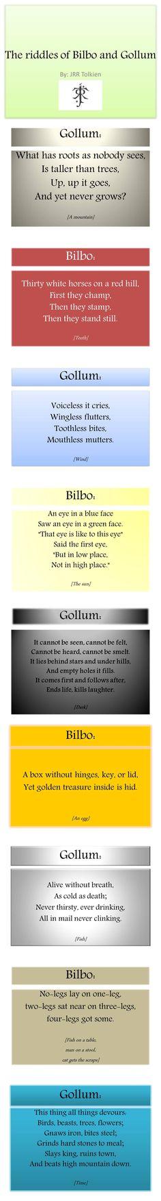 Riddles Tolkien