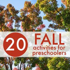 Toddler Approved!: 20 Fall Learning Activities for Preschoolers