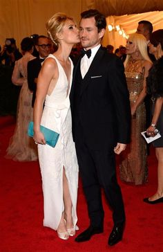 """Claire Danes and Hugh Dancy attend the Costume Institute's gala for the exhibit """"Schiaparelli and Prada: Impossible Conversations"""" at New York's Metropolitan Museum of Art on May 7, 2012."""