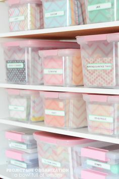 This is the BEST out there for Project Life organization! Gives a ton of organization tips to keep everything in it's place and ready to use. Via A Bowl Full of Lemons