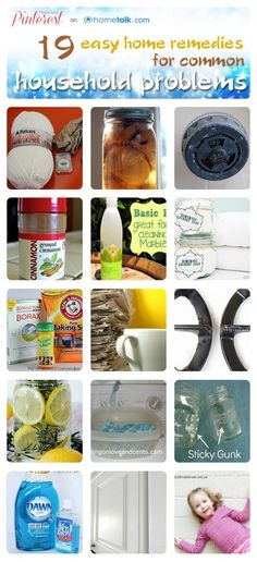 19 home remedies for common household problems!  Shared by https://www.facebook.com/AmazingHerbsandOils