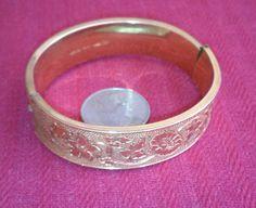 10K Gold Filled Flower Bangle Bracelet by MICSJWL on Etsy, $15.00