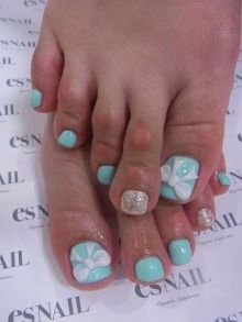 nails, super cute, ignore those freaky toes. Wish I could reach my toes right now