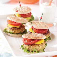 Curried Turkey Burger Sliders