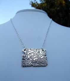 Starry Night Silver Charm and Chain Necklace by Little Gems by Jax.