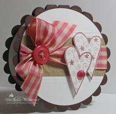 car accessories, circles, idea, valentine day cards, valentine cards, big bows, card tutorials, circl card, heart cards