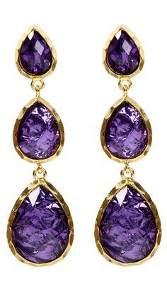 by Amrita Singh  East Hampton Andra Earrings, Violet