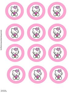 hello kitty cupcake topper template - hello kitty on pinterest hello kitty centerpieces hello