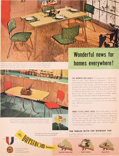Daystrom -  MCM kitchen table and chairs ad