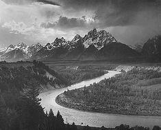 "ANSEL, ADAMS "" The Tetons and Snake River, Grand Teton National Park, Wyoming """