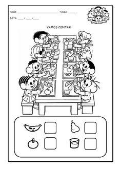 Alfabetizando com Mônica e Turma: Vamos contar - atividade com o número 8