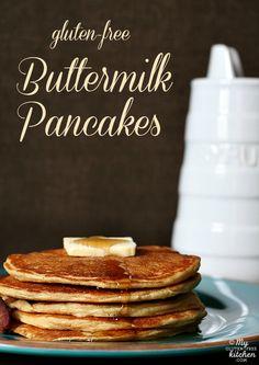Buttermilk Pancakes {Gluten-free}