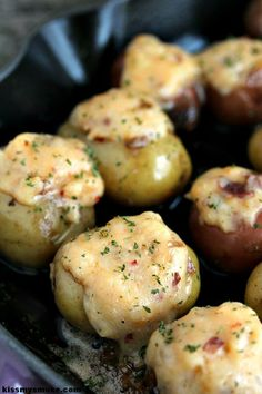 Potato Bites | Cravings of a Lunatic | Perfect little baby potatoes that are twice baked on the grill instead of the oven. They are spectacular!