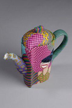 Retrolady teapot by Wanda's Designs