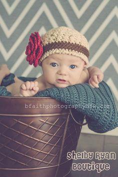 Avery Beanie Crocheted Photo Prop