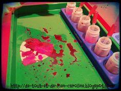 dryer sheet heart with liquid watercolors