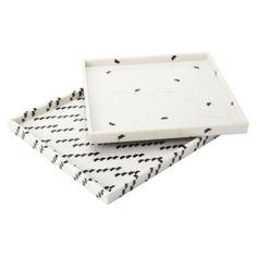 "Nate Berkus™ Marble Print Decorative Tray 12x12"""