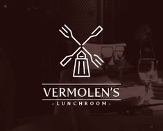 "Done for a lunchroom being run by two brothers with the name Vermolen. Molen is Dutch for mill. Hence the logo. To be used side by side with the ""Let's Cook Together"" logo."