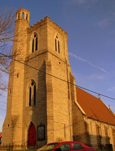 Holy Trinity Episcopal Church, Nashville, TN....This historic church dates back to 1852. The building is renowned for its pure Gothic Architecture and harmony of proportions. It was designed by Wills & Dudley of New York in the style oif an English village church. The church was used as a powder magazine by the Union Army for several months during the Civil War. The tower was added in 1887. Today, it is on the National Registry of Historic Places.
